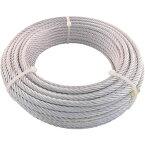 トラスコ中山 TRUSCO JIS規格品メッキ付ワイヤロープ (6X24)Φ9mmX30m JWM−9S30