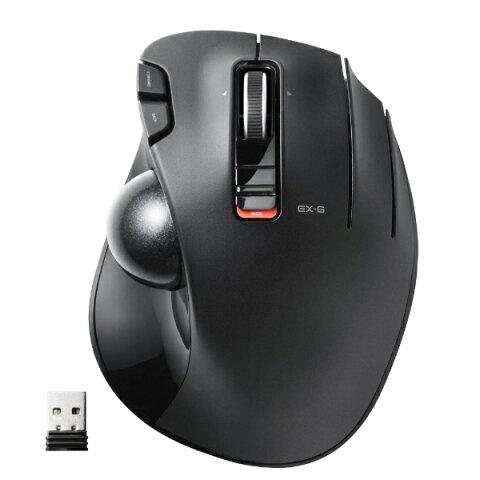 52ece125f19 エレコム ワイヤレス光学式トラックボール[2.4GHz USB・Mac/Win] 親指操作タイプ (5ボタン・ブラック) M-XT2DRBK