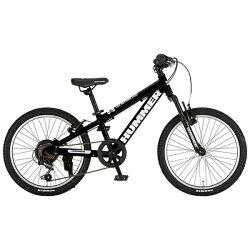 【送料無料】ハマー20型子供用自転車HUMMERJr.ATB206-SV(ブラック/6段変速)JR.ATB206-SV【配送】
