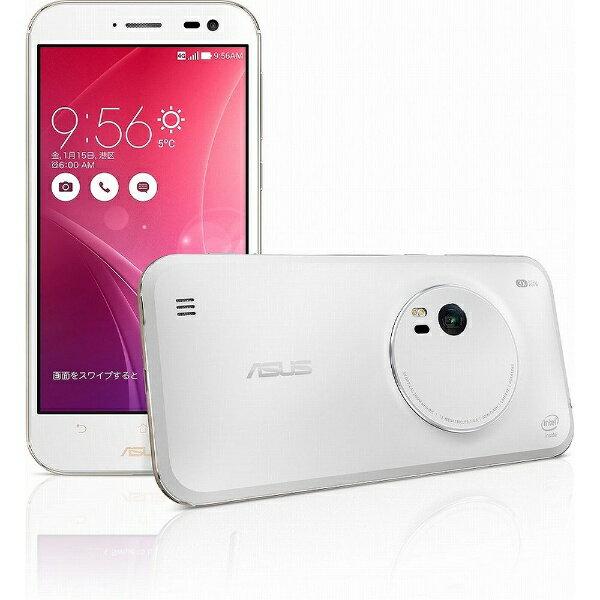 【送料無料】 ASUS ZenFone Zoom スタンダード ホワイト「ZX551ML-WH32S4PL」 5.5型・メモリ/ス...