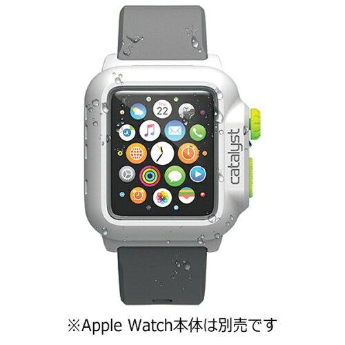 トリニティ カタリスト Apple Watch 42mm用 完全防水ケース CT-WPAW15-WTGR White G...