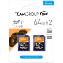 TEAM 【決算セール】64GB・UHS-I対応・Class10対応SDXCカード(2枚セット) TXC064GU1DP