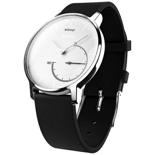 WITHINGS ウェアラブル端末 「Withings Activite Steel White」 HWA01-Steel-Black&...