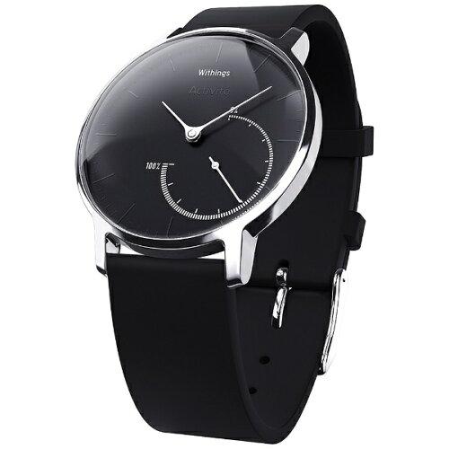 WITHINGS ウェアラブル端末 「Withings Activite Steel Black」 HWA01-Steel-Black-...