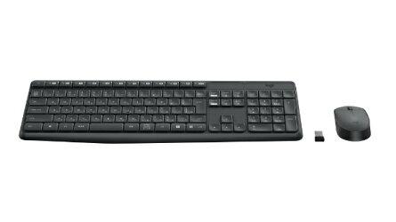 【2016年06月09日発売】ロジクールワイヤレスキーボード[2.4GHzUSB・Win/Chrome]&マウスワイヤレスコンボ(108キー・ブラック)MK235