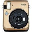 【送料無料】 フジフイルム インスタントカメラ instax mini 70 『チェキ』 ゴールド