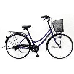【送料無料】サイモト26型自転車パティオボックスファミリー(Mパープル/外装6段変速)266PATHDMP【2016年モデル】【配送】【メーカー直送品・配送・時間指定】
