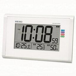 セイコー SEIKO 掛け置き兼用時計 【快適環境NAVI】 白パール SQ439W [電波自動受信機能有][SQ439W]
