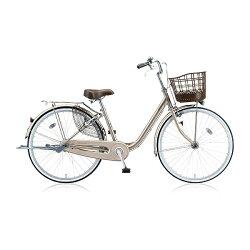 【送料無料】ブリヂストン24型自転車アルミーユ(M.Xプレシャスベージュ/シングルシフト)AU40T6【2016年/点灯虫モデル】【配送】