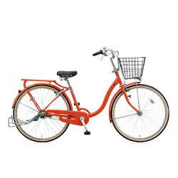 【送料無料】 ブリヂストン BRIDGESTONE 26型 自転車 YUUVI II(F.Xソリッドオレンジ/シングルシフト) YV60T6【2016年/点灯虫モデル】【組立商品につき返品】 【配送】