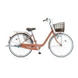 【送料無料】 ブリヂストン BRIDGESTONE 24型 自転車 アルミーユ(M.Xピンクゴールド/シングルシフト) AU406【2016年モデル】【組立商品につき返品】 【配送】