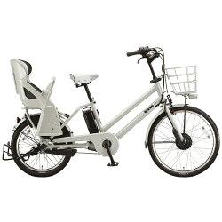 【送料無料】 ブリヂストン BRIDGESTONE 24/20型 電動アシスト自転車 bikke GRI(E.XBKホワイト/内装3段変速) BG0B36【2016年モデル】【組立商品につき返品】 【配送】