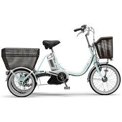【送料無料】ヤマハ18/16型電動アシスト三輪自転車PASワゴン(オパールブルー/内装3段変速)PT16【配送】【メーカー直送品・配送・時間指定】