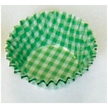 遠藤商事 オーブンケース チェック柄(250枚入) 5号深口 緑 <XOC0212>