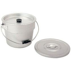 【送料無料】アカオアルミアカオアルマイト丸型二重食缶6L
