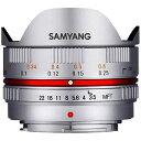 SAMYANG サムヤン カメラレンズ 7.5mm3.5 UMC Fish-eye シルバー [マイクロフォーサーズ /単焦点レンズ][7.5MM3.5FISHEYEMFTSV]