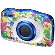 【送料無料】 ニコン コンパクトデジタルカメラ COOLPIX(クールピクス) W100(マリン)