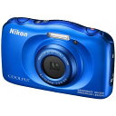 【送料無料】 ニコン 防水コンパクトデジタルカメラ COOLPIX(クールピクス) W100(ブルー) - ビックカメラ楽天市場店