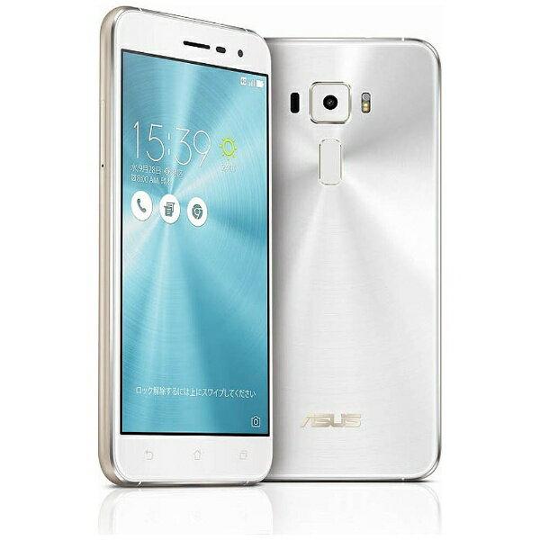 【送料無料】 ASUS エイスース ZenFone3 Series パールホワイト 「ZE520KL-WH32S3」 Snapd...