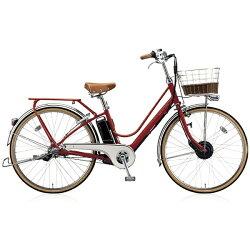 【送料無料】 ブリヂストン BRIDGESTONE 26型 電動アシスト自転車 カジュナe ベーシックライン(E.Xモダンレッド/3段変速) CB6B37【2017年モデル】【組立商品につき返品】 【配送】