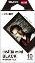 フジフイルム FUJIFILM チェキ インスタントカラーフィルム instax mini用フィルム 「ブラック」 1パック(10枚入)