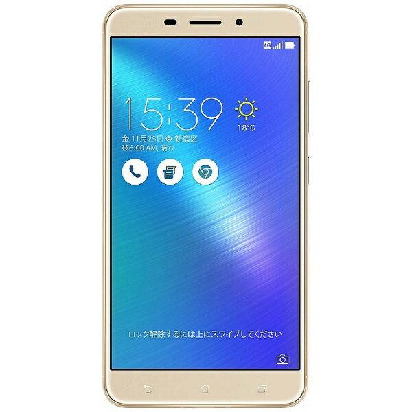 【送料無料】 ASUS Zenfone 3 Laser ゴールド 「ZC551KL-GD32S4」 Android 6.0.1・5.5型ワイド・メモリ/ストレージ:4GB/32GB microSIMx1 nanoSIMx1 SIMフリースマートフォン