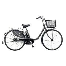 【送料無料】 パナソニック 26型 電動アシスト自転車 ビビ・DX(ラプターグレー/内装3段変速) BE-ELD633N【2017年モデル】【組立商品につき返品】 【配送】