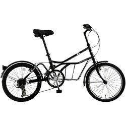 【送料無料】DOPPELGANGER20型自転車330CROADYACHT(シャ・ノワール/7段変速)330CBK【配送】【メーカー直送・・時間指定・返品】