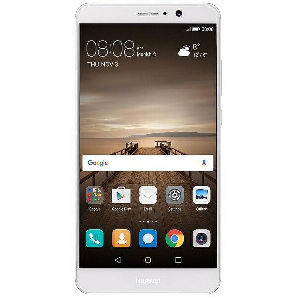 【送料無料】 HUAWEI MATE9 シルバー「MATE9/SILVER」 Android 7.0・5.9型・メモリ/ストレージ:4GB/64GB nano×2 SIMフリースマートフォン