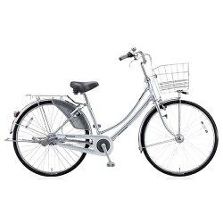 【送料無料】ブリヂストン27型自転車キャスロングデラックスベルト・W型(M.ブリリアントシルバー/3段変速)CDW73B【2017年/ベルトモデル】【配送】