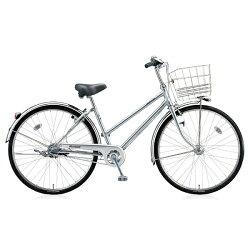 【送料無料】ブリヂストン26型自転車キャスロングデラックスチェーン・S型(M.ブリリアントシルバー/3段変速)CDS63P【2017年モデル】【配送】