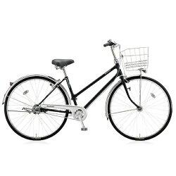 【送料無料】 ブリヂストン BRIDGESTONE 27型 自転車 キャスロング スタンダード・S型(P.クリスタルブラック/3段変速) CSS73P【2017年モデル】【組立商品につき返品】 【配送】