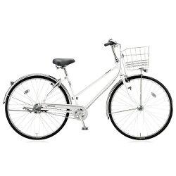 【送料無料】ブリヂストン27型自転車キャスロングスタンダード・S型(P.シーニックホワイト/3段変速)CSS73P【2017年モデル】【配送】