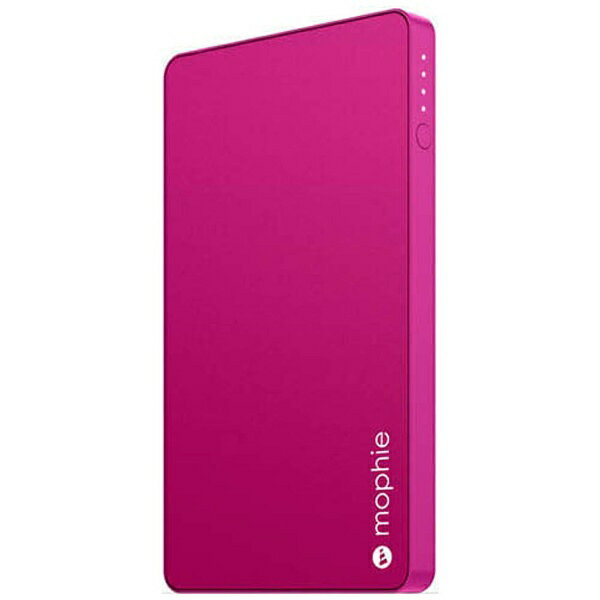 MOPHIE タブレット/スマートフォン対応[micro USB/USB給電] USBモバイルバッテリー +micro USBケーブル (3000mAh・1ポート:2.1A・ピンク) MOP-BY-000124