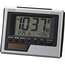 リズム時計 ソーラー電波デジタル目覚まし時計 8RZ186-019