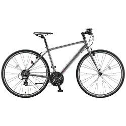 【送料無料】 ブリヂストン BRIDGESTONE 700×32C型 クロスバイク CYLVA F24(M.Bガンメタグレー/480サイズ《適応身長:163~178cm》) F2448【2017年モデル】【組立商品につき返品】 【配送】