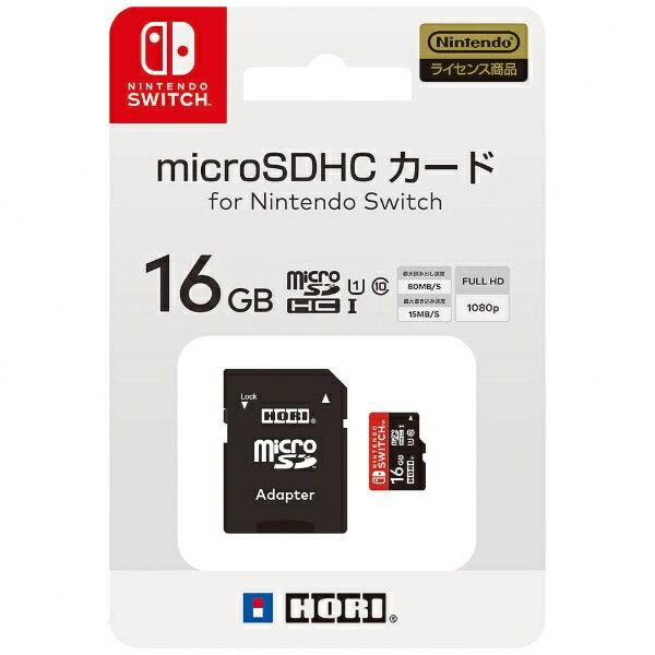 HORIホリマイクロSDカード16GBforNintendoSwitch Switch  代金引換配送不可