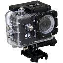 楽天ビック(ビックカメラ×楽天)で買える「SAC エスエーシー AC600 アクションカメラ Black [4K対応 /防水][AC600B]」の画像です。価格は9,980円になります。