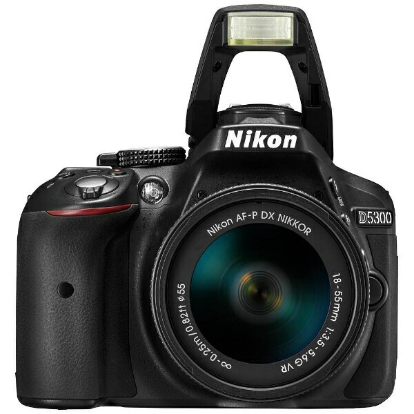 D5300 AF-P 【新品】 デジタル一眼カメラ ニコン 【送料無料】 ダブルズームキット [ブラック]