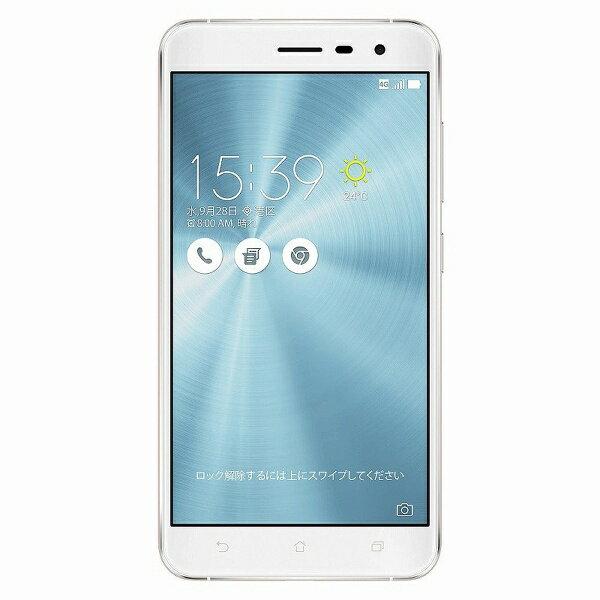 【送料無料】 ASUS Zenfone3 パールホワイト 「ZE552KL-WH64S4」 Android 6.0.1・5.5型・メモリ/ストレージ:4GB/64GB microSIM×1、nano×1 SIMフリースマートフォン