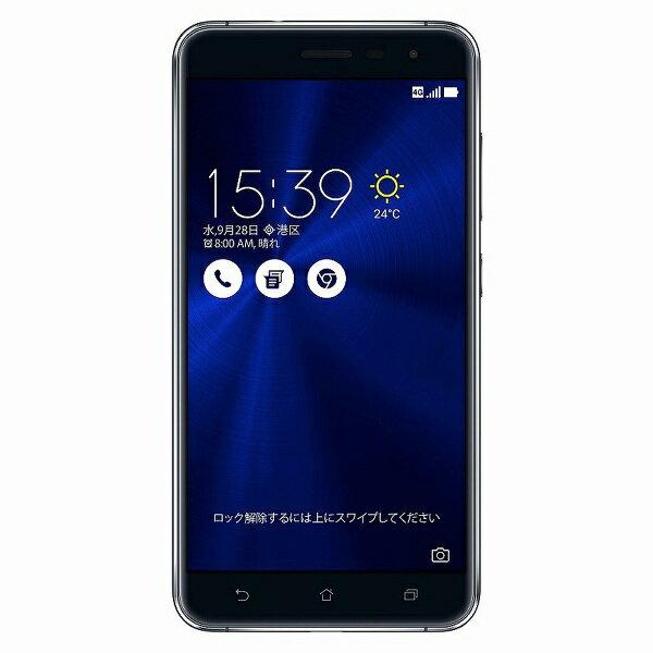 【送料無料】 ASUS Zenfone3 サファイヤブラック 「ZE552KL-BK64S4」 Android 6.0.1・5.5型・メモリ/ストレージ:4GB/64GB microSIM×1、nano×1 SIMフリースマートフォン