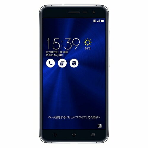ASUS Zenfone3 サファイヤブラック 「ZE552KL-BK64S4」 Android 6.0.1・5.5型・メモ...