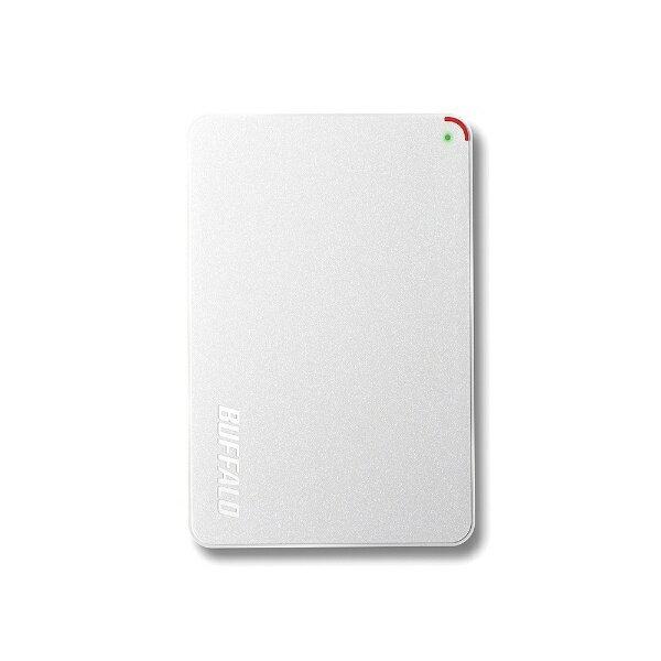 【送料無料】 BUFFALO ポータブルハードディスク 2TB [USB3.1/3.0/2.0・Win/Mac] テレビ対応 HD-PCFU3-Eシリーズ ホワイト HD-PCF20U3-GWE