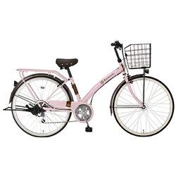 【送料無料】 MARUKIN 27型 自転車 ルネシック276-J (ピンク/外装6段変速) MK-17-029【組立商品につき返品】 【配送】【メーカー直送・・時間指定・返品】
