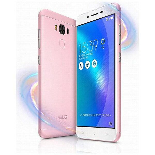 【送料無料】 ASUS Zenfone 3 Max ピンク「ZC553KL-PK32S3」・Android 6.0.1・5.5型ワイド・メモリ/ストレージ:3GB/32GB・microSIM×1 nanoSIM×1・SIMフリースマートフォン