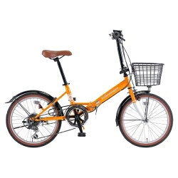【送料無料】VOLKSWAGEN20型折りたたみ自転車VolkswagenVW-206GBeetle(オレンジ/6段変速)34886【2017年モデル】【組立商品につき返品】【配送】