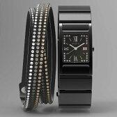 【送料無料】 ソニー ウェラブル端末 「wena wrist Square Premium Black -Crystal Edition-」 WN-WT12B