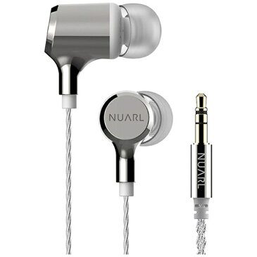【送料無料】 NUARL 【ハイレゾ音源対応】HDSSイヤホン(ポリッシュドシルバー&ホワイト) NX01A SW