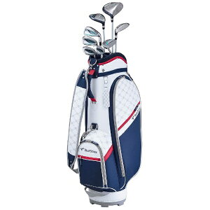 ブリヂストン BRIDGESTONE レディース ゴルフクラブ TOURSTAGE CL 8本セット《専用カーボンシャフト+ヘッドカバー・キャディバッグ(ネイビー)付》