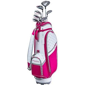ブリヂストン BRIDGESTONE レディース ゴルフクラブ TOURSTAGE CL 8本セット《専用カーボンシャフト+ヘッドカバー・キャディバッグ(ピンク)付》